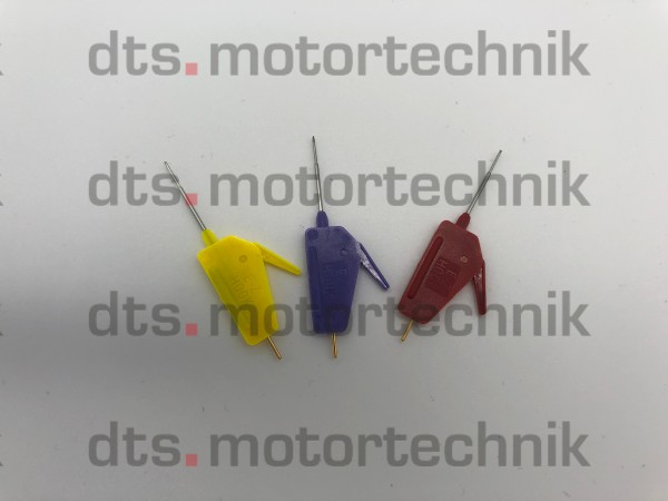 "Set of 10 INSULATED MICRO CLAMPS 0.025"" FOR DIRECT CONNECTIONS TO CPUs"