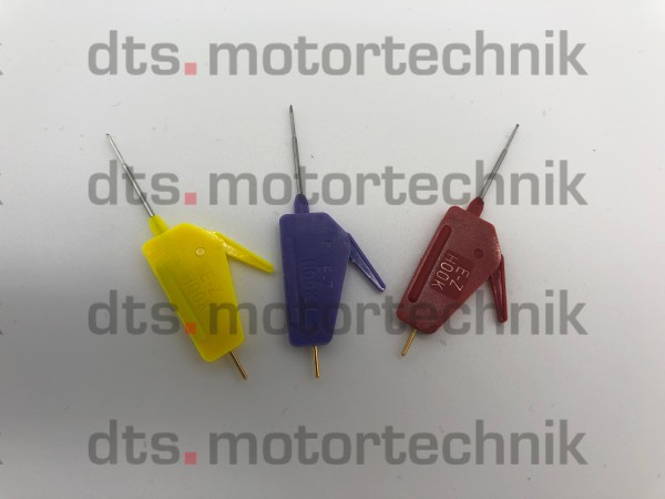 """Set of 3 INSULATED MICRO CLAMPS 0.025"""" FOR DIRECT CONNECTIONS TO CPUs"""